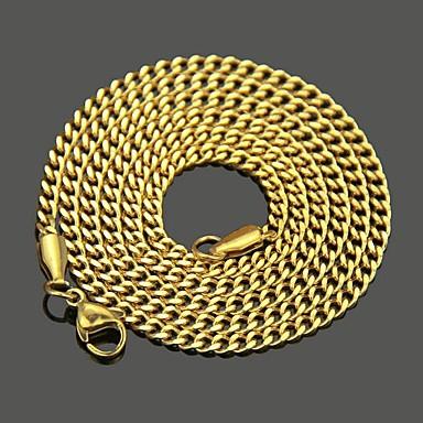 voordelige Heren Ketting-Heren Kettingen Klassiek Mariner Chain Punk Rock Roestvast staal Goud Zilver 60 cm Kettingen Sieraden 1pc Voor Dagelijks Straat