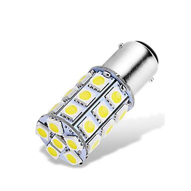 זול מנורות ערפל לרכב-4pcs ba15d 1142 1076 1176 הוביל מכונית מנורות 12-24v smd 5050 27 הוביל בחזרה את האורות לאחור אורות בלם אורות הזנב אורות מנורת ערפל להפעיל אות המנורה
