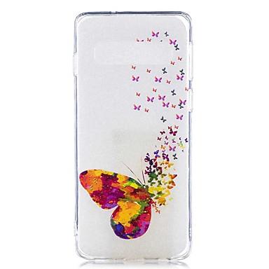 voordelige Galaxy S-serie hoesjes / covers-hoesje Voor Samsung Galaxy S9 / S9 Plus / S8 Plus Transparant / Patroon Achterkant Vlinder Zacht TPU