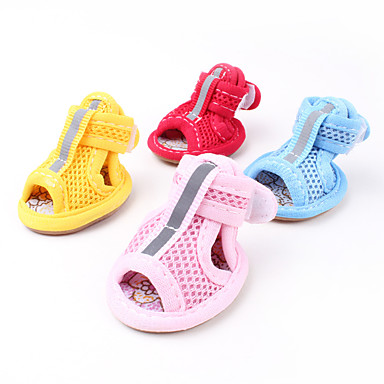 cheap Dog Clothing & Accessories-Dogs Boots / Shoes Sandal Mesh For Pets Cotton / Polyester Rubber / Summer