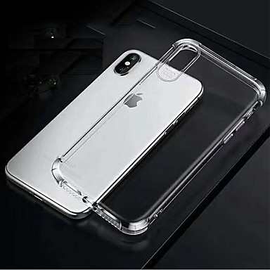 voordelige iPhone 7 hoesjes-Apple vierhoek airbag valbestendig TPU soft shell telefoonhoes voor apple iphone6 / 6s / 7/8 / 7plus / 8plus / x / xs / xr / xsmax transparant telefoonhoes