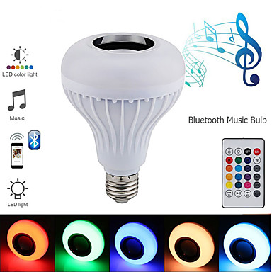 Недорогие LED освещение для шкафчиков-1 компл. Светодиодный свет этапа bluetooth волшебный шар e27 лампочка дистанционного управления подсветка музыки свет dj бар бальные украшения свет