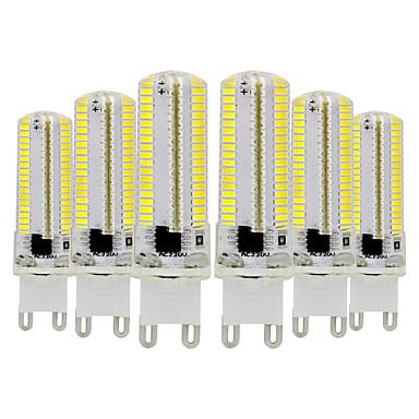 Недорогие Светодиоды и лампы-ywxlight® 6шт g9 затемняемая силиконовая лампочка для кукурузы 3014 smd 152led энергосберегающая лампа 7 Вт (70 Вт галогеновый эквивалент) светодиодная лампа для домашнего освещения 110-130 В 220-240