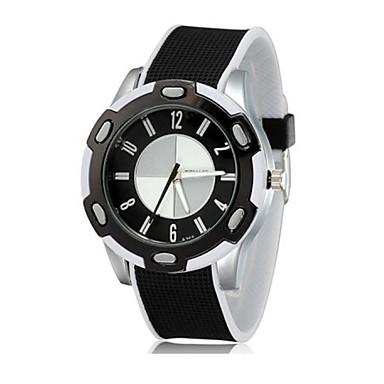 levne Pánské-Pánské Sportovní hodinky Křemenný Silikon Černá Hodinky na běžné nošení Analogové Módní - Modrá Černá / Bílá Jeden rok Životnost baterie
