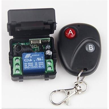 billige Smart Switch-Smart Switch AK-RK01+AK-BF02 til Daglig / Bil / Soverom Mini Stil / Verneutstyr / Fjernstyrt Fjernkontroll Trådløs 12 V