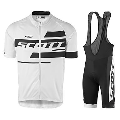 voordelige Motorjacks-Scott Tour de France-versie van het jerseypak zomerrijpak kort jasje fietspak siliconen kussen ademend en sneldrogend fietspak