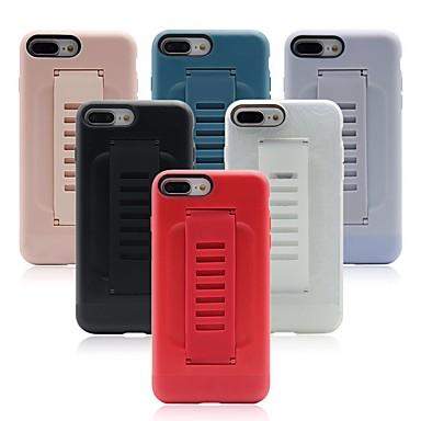 voordelige iPhone 7 hoesjes-hoesje Voor Apple iPhone XR / iPhone XS Max / iPhone X Ringhouder Achterkant Effen Zacht TPU