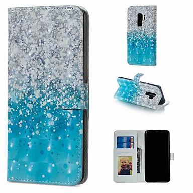 Недорогие Чехлы и кейсы для Galaxy S6-Кейс для Назначение SSamsung Galaxy S9 / S9 Plus / S8 Plus Кошелек / Бумажник для карт / со стендом Чехол Пейзаж Твердый Кожа PU