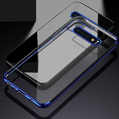 voordelige Galaxy S-serie hoesjes / covers-hoesje Voor Samsung Galaxy S9 / S9 Plus / S8 Plus Beplating / Transparant Achterkant Effen Zacht TPU