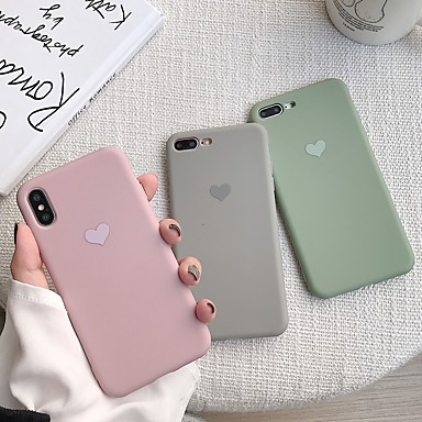 voordelige iPhone 6 hoesjes-hoesje voor apple iphone xr / iphone xs max patroon achterkant hart soft tpu voor iphone x xs 8 8plus 7 7 plus 6 6s 6 plus 6s plus