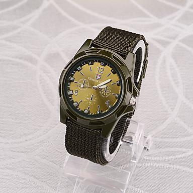 זול שעוני גברים-בגדי ריקוד גברים שעונים צבאיים ציד קווארץ ניילון שחור / כחול / ירוק 30 m עיצוב חדש שעונים יום יומיים אנלוגי יום יומי אופנתי - שחור ירוק כחול שנה אחת חיי סוללה / SSUO 377