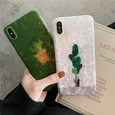voordelige iPhone 7 hoesjes-hoesje Voor Apple iPhone XR / iPhone XS Max / iPhone X IMD / Patroon Achterkant Cartoon Zacht TPU