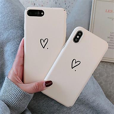 voordelige iPhone-hoesjes-case voor apple iphone xr / iphone xs max patroon achterkant hart hard pc voor zachte tpu voor iphone x xs 8 8 plus 7 7 plus 6 6 s 6 plus 6 s plus