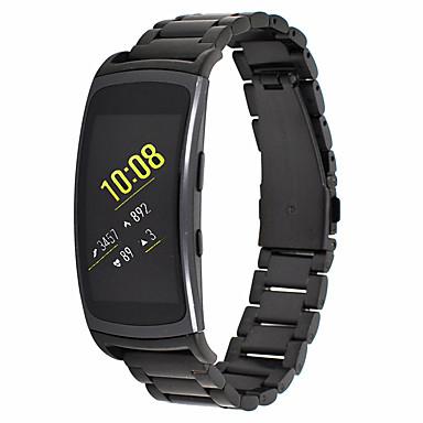 voordelige Horlogebandjes voor Samsung-Horlogeband voor Gear Fit 2 Samsung Galaxy Moderne gesp Metaal / Roestvrij staal Polsband