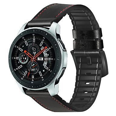 voordelige Smartwatch-accessoires-Horlogeband voor Samsung Galaxy Watch 46 Samsung Galaxy Klassieke gesp Silicone / Echt leer Polsband