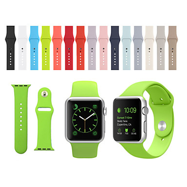 voordelige Smartwatch-accessoires-Horlogeband voor Apple Watch Series 4/3/2/1 Apple Sportband Silicone Polsband