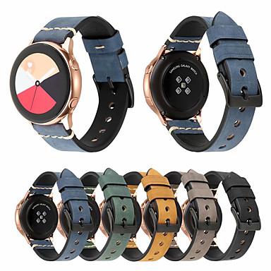 Недорогие Часы для Samsung-Ремешок для часов для Gear Sport / Gear S2 / Gear S2 Classic Samsung Galaxy Спортивный ремешок / Классическая застежка Натуральная кожа Повязка на запястье