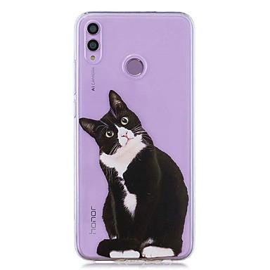 voordelige Huawei Y-serie hoesjes / covers-hoesje voor huawei honor 8x / huawei p smart (2019) patroon / transparante achterkant zwarte kat zachte tpu voor mate20 lite / mate10 lite / y6 (2018) / p20 lite / nova 3i / p smart / p20 pro