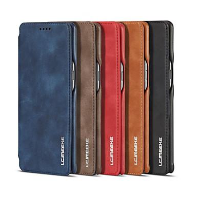 voordelige Galaxy Note-serie hoesjes / covers-luxe magnetische attractie flip beschermhoes voor Samsung Galaxy Note 8 note 9 zakelijke holster retro lederen tas eenvoudig