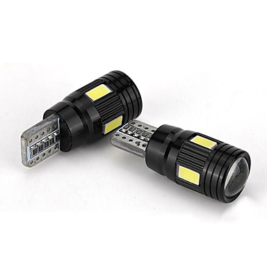 voordelige Automistlampen-4 stuks t10 led-koplampset 6000k dimlicht witte lens mistmarkeerlamp - zwart