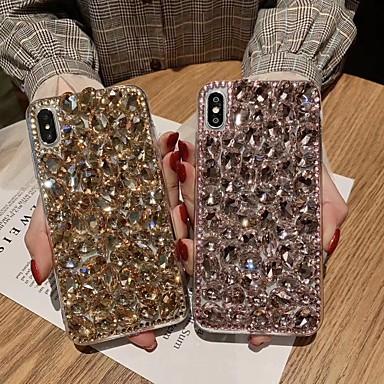 Недорогие Кейсы для iPhone-Кейс для Назначение Apple iPhone XS / iPhone XR / iPhone XS Max Стразы Кейс на заднюю панель Сияние и блеск Мягкий ТПУ
