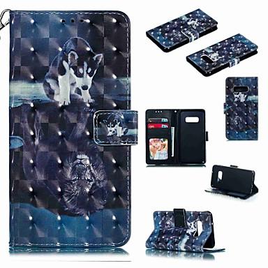 voordelige Galaxy S-serie hoesjes / covers-hoesje Voor Samsung Galaxy S9 / S9 Plus / S8 Plus Portemonnee / Kaarthouder / Schokbestendig Volledig hoesje Hond / dier / Cartoon Hard PU-nahka