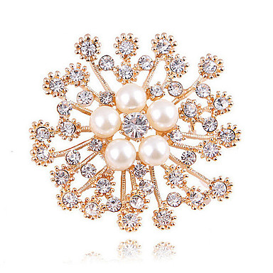 fc80fd541 cheap Brooches-Women's Synthetic Diamond Brooches Flower Ladies  Classic Fashion fancy