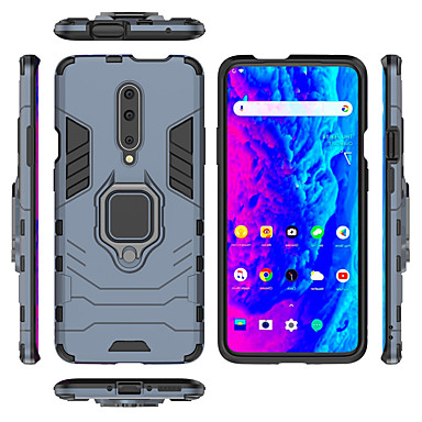 Case For OnePlus One Plus 7 / One Plus 7 Pro Ring Holder Full Body Cases Solid Colored / Armor Hard PC for One Plus 7 / One Plus 7 Pro