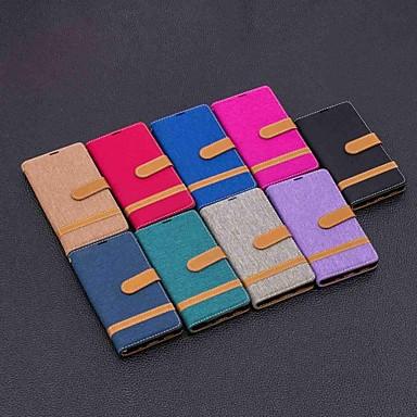 voordelige Hoesjes / covers voor Sony-koffer voor sony xperia xa2 ultra / xperia 10 magnetisch / flip / met standaard fullbody koffers tegel hard textiel voor xperia l2 / xperia xa1 / xperia xa1 plus / xa2 / xz1 compact / xz1 / xz premium