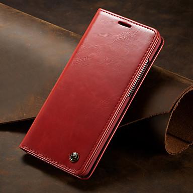 ieftine Carcase / Huse de Huawei-caseta caz pentru huawei p30 / huawei p30 pro / huawei p30 lite flip portofel telefon pu piele caz rezistent la șoc acoperă carduri sloturi solid colorate carcase corp întreg