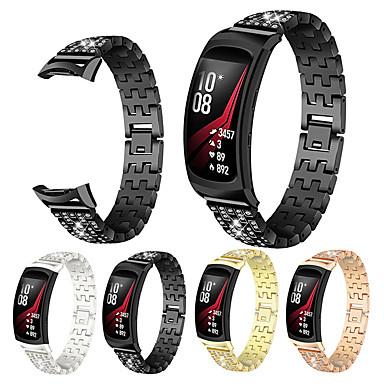 voordelige Horlogebandjes voor Samsung-Horlogeband voor Gear Fit Pro Samsung Galaxy Butterfly Buckle Metaal Polsband