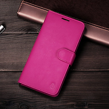 voordelige iPhone 6 Plus hoesjes-tas voor apple universele magnetische / kaarthouder achterkant effen gekleurde hard lederen voor iphone 6 / iphone 6 plus / iphone 6s