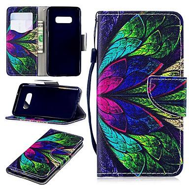 Недорогие Чехлы и кейсы для Galaxy S6 Edge-Кейс для Назначение SSamsung Galaxy S9 / S9 Plus / S8 Plus Кошелек / Бумажник для карт / Защита от удара Чехол Цветы Твердый Кожа PU