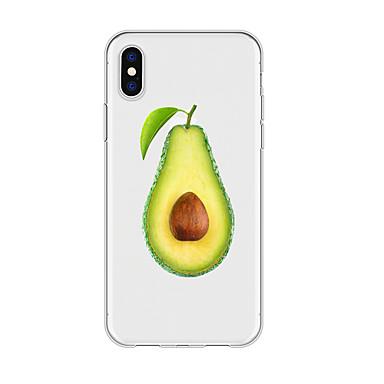 voordelige iPhone X hoesjes-hoesje voor iphone x xs max xr xs achterkant zachte hoes tpu eenvoudig avocado-patroon zachte tpu voor iphone5 5s se 6 6p 6s sp 7 7p 8 8p16 * 8 * 1