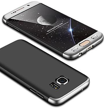 Недорогие Чехлы и кейсы для Galaxy S6 Edge-Кейс для Назначение SSamsung Galaxy S6 edge Ультратонкий Кейс на заднюю панель Однотонный Твердый ПК