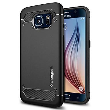 Недорогие Чехлы и кейсы для Galaxy S6-Кейс для Назначение SSamsung Galaxy S6 Защита от пыли / Ультратонкий Кейс на заднюю панель Однотонный Мягкий ТПУ