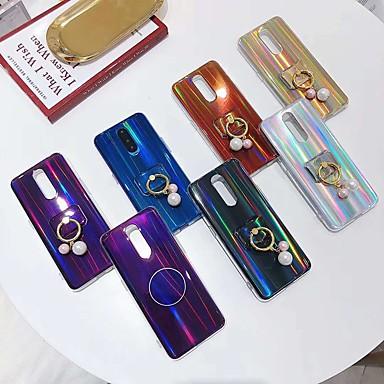 Недорогие Чехлы и кейсы для Galaxy S6 Edge-Кейс для Назначение SSamsung Galaxy S9 / S9 Plus / S8 Plus Кольца-держатели / Сияние и блеск Кейс на заднюю панель Сияние и блеск / Градиент цвета Мягкий ТПУ
