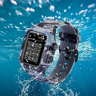 billige Apple Watch Vesker med Band-Veske med bånd til Apple Watch Series 4/3/2/1 silikon / tpu kompatibilitet eple
