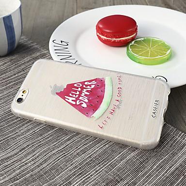 voordelige iPhone 5 hoesjes-hoesje Voor Apple iPhone X / iPhone 7 Plus / iPhone 7 Waterbestendig / Stofbestendig / Ultradun Achterkant Voedsel TPU