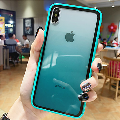 cheap iPhone Cases-Case For Apple iPhone XS / iPhone XR / iPhone XS Max Pattern Back Cover Color Gradient Tempered Glass
