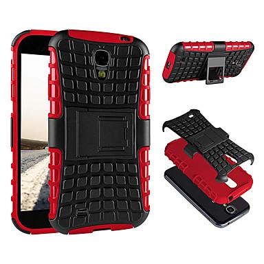 Недорогие Чехлы и кейсы для Galaxy S4 Mini-Кейс для Назначение SSamsung Galaxy S4 Mini Защита от пыли / со стендом Кейс на заднюю панель Однотонный Твердый ПК