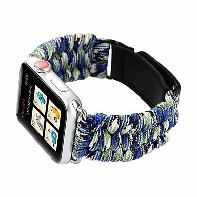 Недорогие Ремешки для Apple Watch-Ремешок для часов для Apple Watch Series 4/3/2/1 Apple Спортивный ремешок Нейлон / Натуральная кожа Повязка на запястье