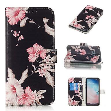 Недорогие Чехлы и кейсы для Galaxy S6 Edge-Кейс для Назначение SSamsung Galaxy S9 / S9 Plus / S8 Plus Кошелек / Бумажник для карт / со стендом Чехол Цветы Твердый Кожа PU