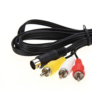billige Kabler og adaptere-LITBest S-Video Kabel, S-Video til 3RCA Kabel Hann - hunn <1m / 3ft