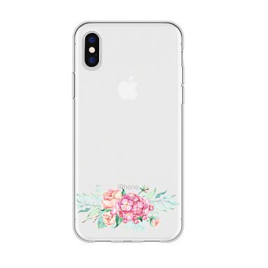 voordelige iPhone X hoesjes-hoesje voor iphone x xs max xr xs achterkant zachte hoes TPU eenvoudige bloem zachte TPU voor iPhone5 5s se 6 6p 6s sp 7 7p 8 8p16 * 8 * 1