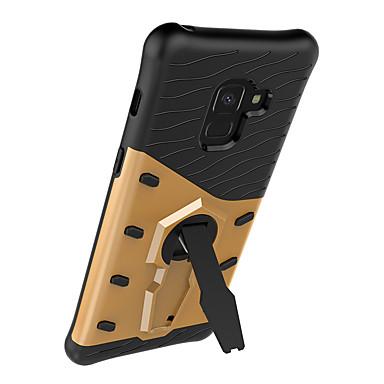 voordelige Galaxy A-serie hoesjes / covers-hoesje Voor Samsung Galaxy A8+ 2018 / A8 360° rotatie / Schokbestendig / Stofbestendig Achterkant Houtnerf / Lijnen / golven Hard TPU / PC