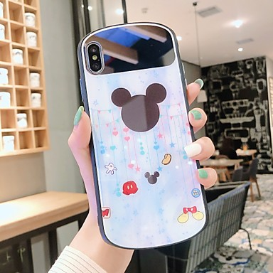 voordelige iPhone 6 hoesjes-hoesje Voor Apple iPhone XS / iPhone XR / iPhone XS Max Spiegel / Ultradun Achterkant Cartoon PC