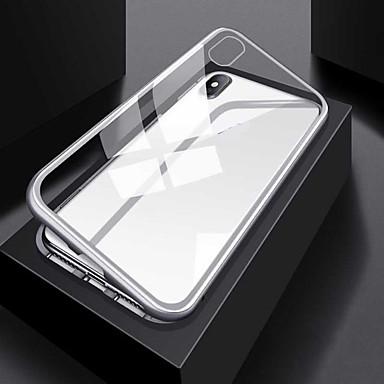 voordelige Galaxy S-serie hoesjes / covers-hoesje Voor Samsung Galaxy S9 / S9 Plus / S8 Plus Transparant / Magnetisch Volledig hoesje Effen / Transparant Aluminium