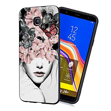 voordelige Galaxy J-serie hoesjes / covers-hoesje voor Samsung Galaxy J4 (2018) / J6 (2018) Patroon / Mat / Schokbestendig Achterkant Sexy Lady Soft TPU voor Galaxy J4 Plus (2018) / J6 Plus (2018) / M10 / M20 / M30 / J330 / J530 / J730 / j2
