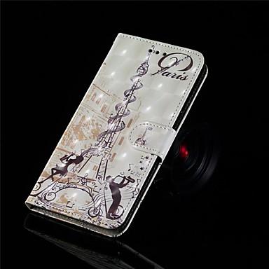 Недорогие Кейсы для iPhone-Кейс для Назначение Apple iPhone XS / iPhone XR / iPhone XS Max Кошелек / Бумажник для карт / Флип Чехол Пейзаж Твердый Кожа PU